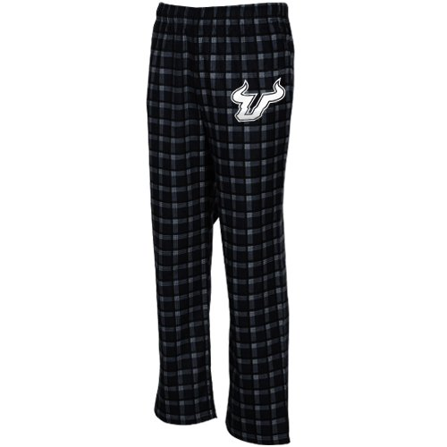 adidas South Florida Bulls Black Tailgate Flannel Pajama Pants (Small)