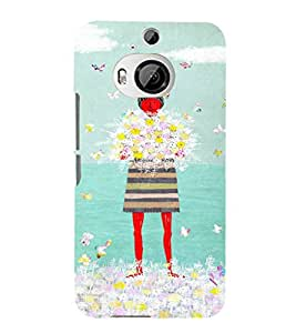 EPICCASE Lady with flowers Mobile Back Case Cover For HTC One M9 Plus (Designer Case)