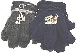 Two Pairs Mongolian Fleece Gloves One with Customer Chosen Monogram