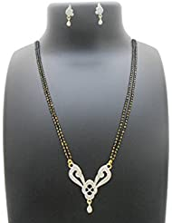 Adorable Brass AD Stone Mangalsutra With Earring By My Design(inch-25)