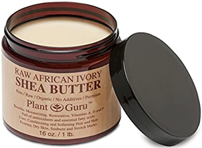 Plant Guru Raw African Ivory Shea Butter for Hair and Skin, 16 oz.