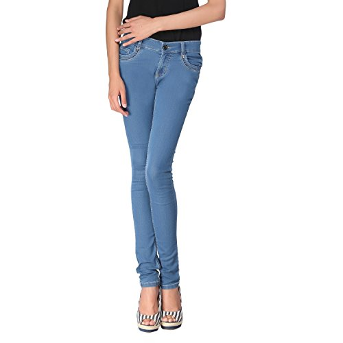 Zedon Light Blue Basic Jeans For Women