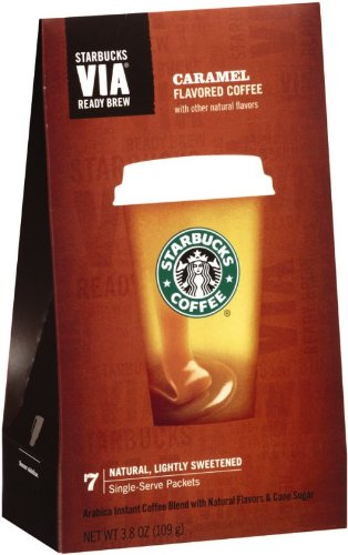 Starbucks Via Ready Brew Coffee, Caramel Flavored, 7-Count