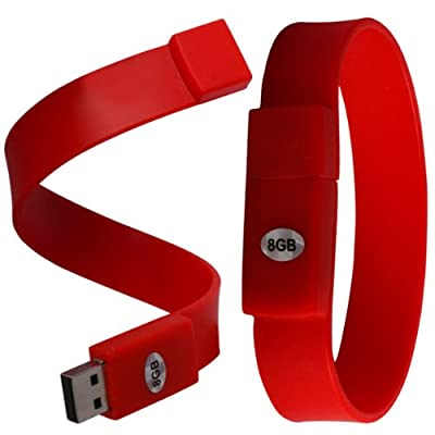 iGloo 8GB Bracelet USB 2.0 Flash Drive Memory Stick Pen Device - Red from iGloo