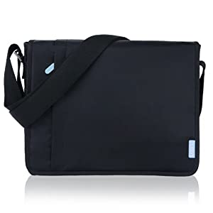 Duzign Carrier Horizontal Messenger Bag (Black) for 11 Inch Netbook by Duzign