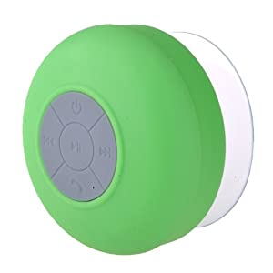 Gizga Waterproof Wireless Bluetooth Shower Speaker Handsfree Speaker with Mic for All Android Phones-Green by Gizga