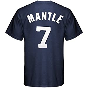 Mickey Mantle ~ New York Yankees ~ Cooperstown Collection ~ Pro Sewn Tee Shirt ~... by Majestic