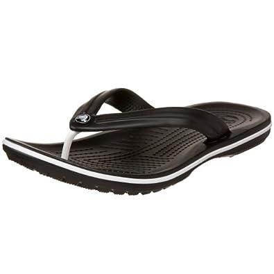 crocs Unisex Crocband Flip Flop,Black,13 M US