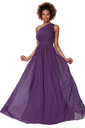 SEXYHER Gorgeous Full Length One Shoulder Bridesmaids Formal Evening
