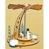 German Christmas Pyramid with Snow Man by mygermanstore