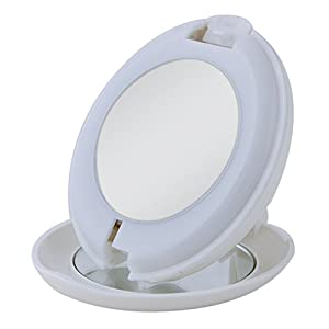 Zadro Msp910 Compact Lighted 1x Amp 10x Travel Mirror
