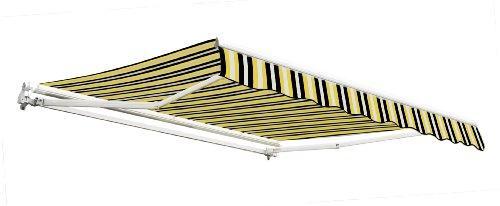 25m-gnstige-Gelenkarmmarkise-Gelb-und-grau-gestreift