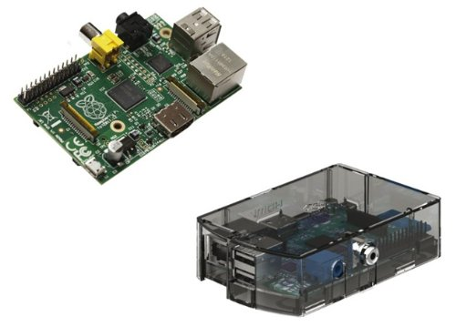 Raspberry Pi Type B 512MB ケースセット (clear)