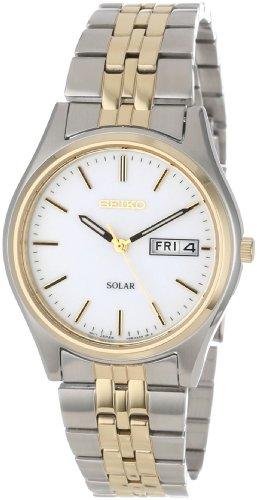 Seiko Men's SNE032 Stainless Steel Solar Watch