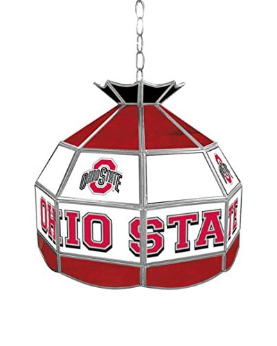 "Trademark Global 16"" The Ohio State Glass Tiffany-Style Pendant Lamp"