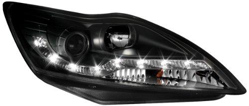 Dectane SWF11AGXB Lot de 2 phares Dayline avec feux de circulation diurnes pour Ford Focus entre 2008 et 2011 (Chromé)