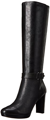 Image of Nine West Women's Kaleigh Leather Knee High Boot, Black, 11 M US