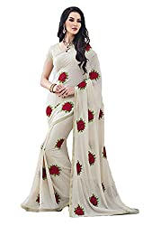 Sarang Collections Designer Threadwork Lightweight Georgette Saree with Blouse