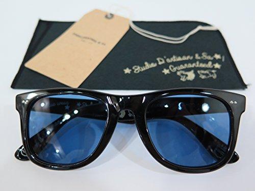 【ダルチザン】 サングラス ブラック×ブルー STUDIO D'ARTISAN 7414 日本製