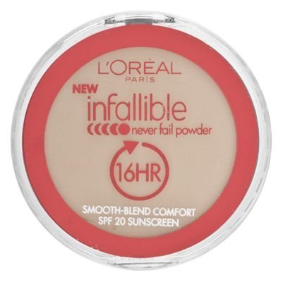 L'Oreal Paris Infallible Never Fail Powder, Natural Beige, 0.30 Ounce front-272751