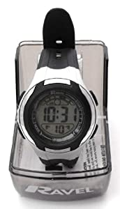 Boys/Kids Digital LCD Sports Watch - Gift Boxed - Multi Functional- 14-20cm Strap - 3ATM - Black 1f