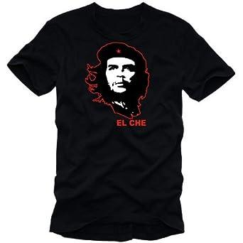 coole-fun-t-shirts Herren t-shirt CHE GUEVARA  EL CHESCHWARZ, GR.S