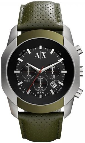 Armani Exchange AX1167 Watches, Mens Armani Exchange Green Chronograph Watches