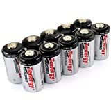 10 pcs Tenergy Propel CR2 Lithium Battery with PTC Protected