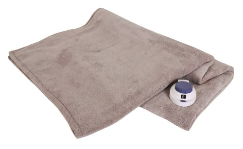 Serta Luxe Plush Low-Voltage Electric Heated Micro-Fleece Throw, Topaz