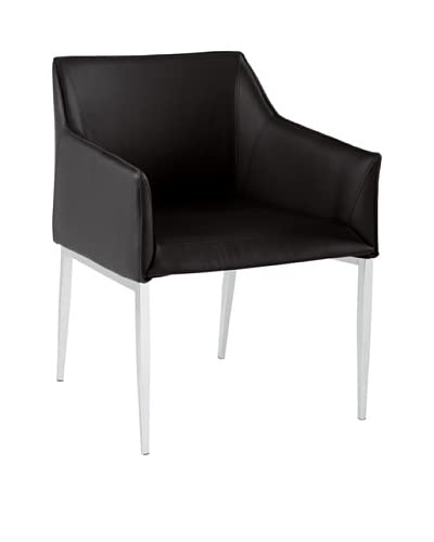 Sunpan Waldorf Armchair, Black As You See