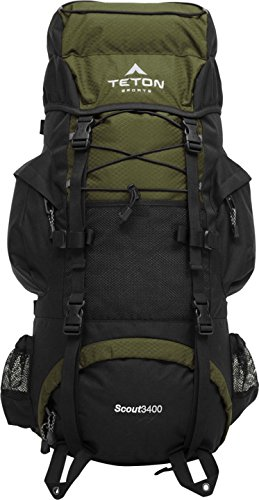TETON Sports Scout 3400 Internal Frame Backpack for backpacking outdoors