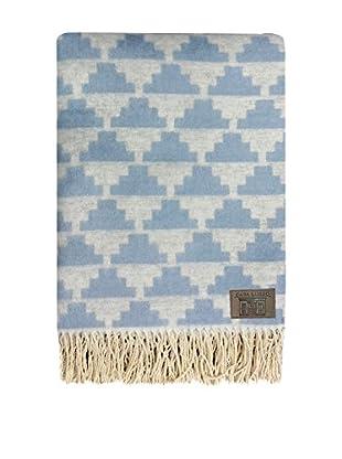 Pandora Plaid 100% algodón (Blanco/Azul Claro)