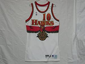 1998-99 Atlanta Hawks #10 Mookie Blaylock Game Worn Jersey