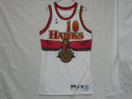 933967963 Jerseys NBA  1998-99 Atlanta Hawks  10 Mookie Blaylock Game Worn Jersey