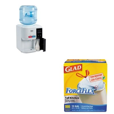 KITAVAWD31ECCOX70427 - Value Kit - Avanti Tabletop Thermoelectric Water Cooler (AVAWD31EC) and Glad ForceFlex Tall-Kitchen Drawstring Bags (COX70427) drawstring bags
