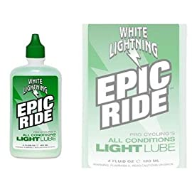 White Lightning Epic Ride All Conditions Light Bike Lubricant - 4oz - E50040102