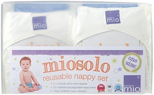 Bambino Mio All-in-One Cloth Diaper Set, White