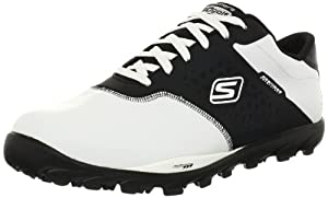 Skechers Men's Go Golf Golf Shoe,White/Black,13 M US