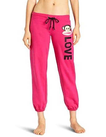 (大热)大嘴猴Paul Frank女士 LOVE 运动休闲抓绒裤Junior's Fleece Pant $19.6