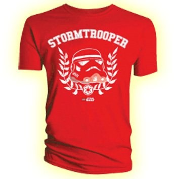 Official T Shirt LEGO STAR WARS Red STORMTROOPER L