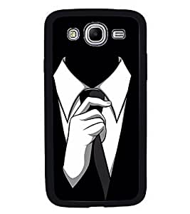 Fuson Premium 2D Back Case Cover Mr. Perfect DESIGN With White Background Degined For Samsung Galaxy Mega 5.8 i9150::Samsung Galaxy Mega 5.8 i9152