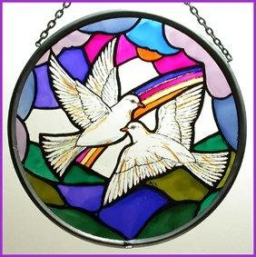 Decorative Hand Painted Stained Glass Window Sun Catcher