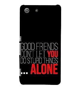 EPICCASE good friends Mobile Back Case Cover For Sony Xperia M5 (Designer Case)