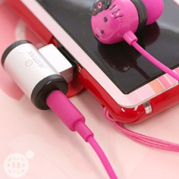 Sanrio Hello Kitty Pink Stereo Earphones