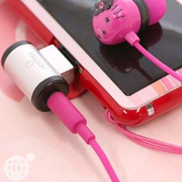 Sanrio Hello Kitty Pink Stereo Earphones