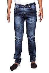 John Wills Men's Slim Fit Jeans (MCR1032, Blue, 28)