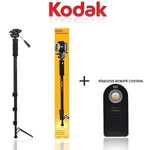 "Kodak Monopod 72"" Professional With Quick Release M720 FOR NIKON CAMERA DSLR D5300,D5200,D5100,D3200,D600,D700,D4,D3X,D3S,D610,D800,D90,D7100,D300S + Wireless Remote Control"