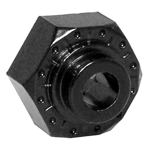 Axial AX30429 Aluminum Hex Hub (4-Piece), 12mm, Black