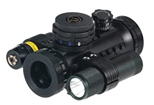 BSA 20mm Stealth Tactical Illuminated with Red, Green and Blue Dots, Light and Laser