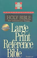 NIV Large Print Reference Bible, Personal Size, Thumb Indexed (Black Leather-Look)